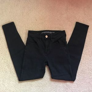 Black Hi-Rise Jeggings | AE